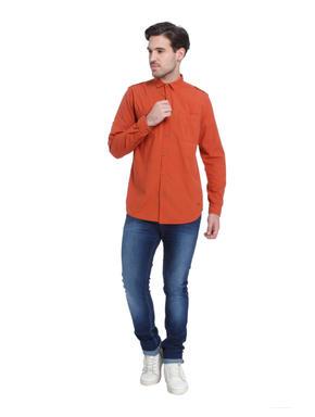 Orange Slim Fit Shirt