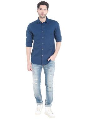 Dark Blue Slim Fit Shirt