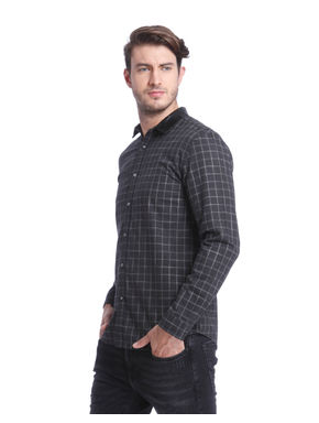 Dark Grey Check Shirt