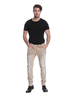 Light Brown Distressed Skinny Jeans
