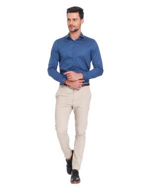 Turquoise Slim Fit Shirt