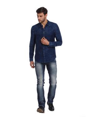Blue Denim Slim Fit Shirt