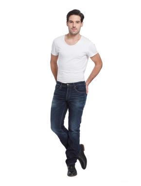 Blue Low Rise Regular Fit Jeans