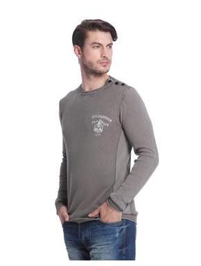 Dark Grey Knit Pullover