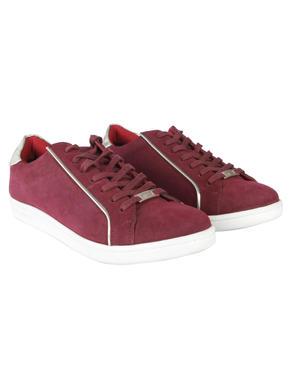 Maroon & Silver Sneakers