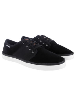 Black Faux Suede Sneakers