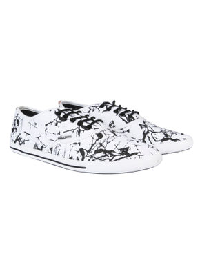 Black & White All Over Print Sneakers
