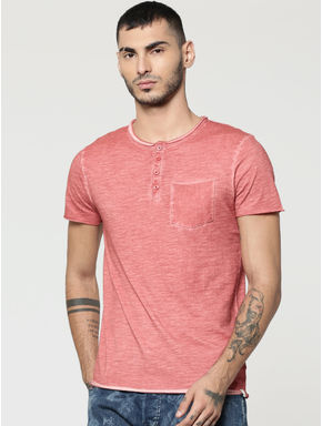 Red Henley T-Shirt