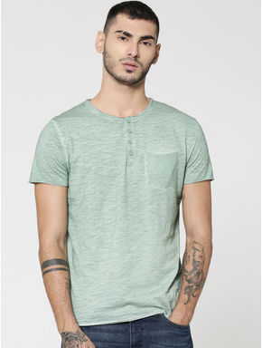 Light Green Henley T-Shirt