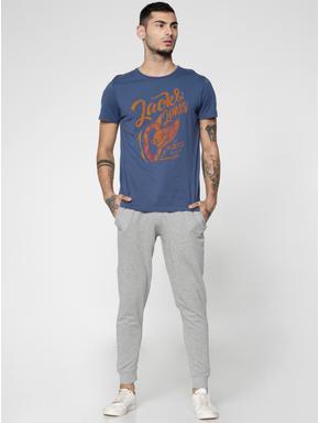 Light Grey Drawstring Low Rise Slim Fit Sweatpants