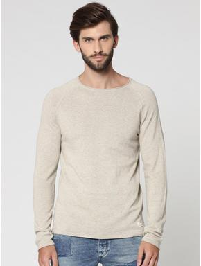 Off White Raglan Sleeves Sweatshirt