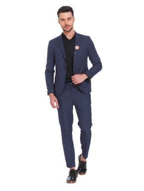 Blue Check Slim Fit Blazer