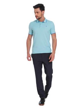 Sea Green & Blue Polo T-Shirt