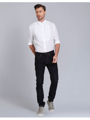 White Linen Slim Fit Shirt