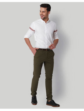 Olive Green Slim Fit Chinos