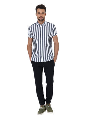 Black Striped Slim Fit Shirt