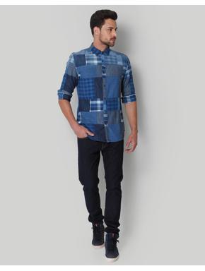 Blue & Grey Check Shirt