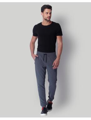 Grey Mid Rise Slim Fit Sweatpants
