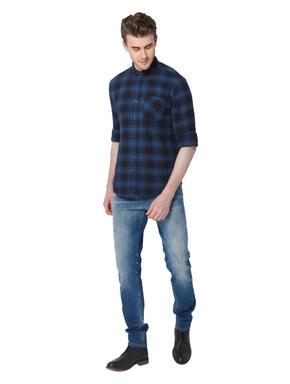 Blue & Black Check Shirt