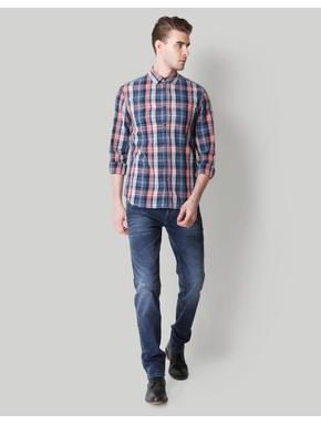 Red Check Linen Shirt