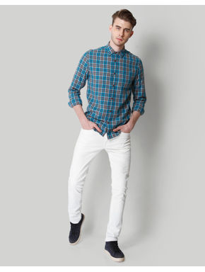 Blue Check Linen Shirt