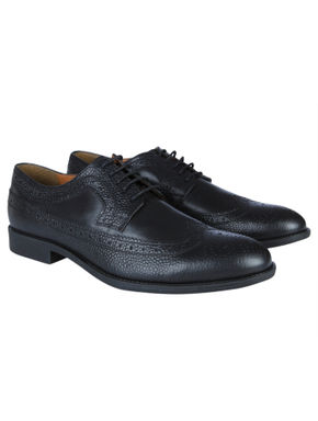 Black Leather Oxford Shoes