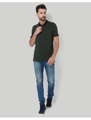 Olive Green Polo T-Shirt