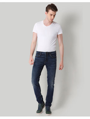 Dark Blue Low Rise Skinny Fit Jeans