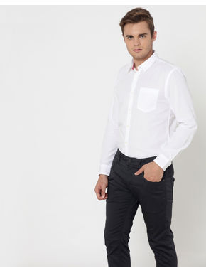 White One Pocket Shirt