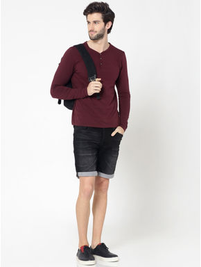 Black Rick Regular Fit Denim Shorts