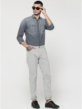 Dark Blue Full Sleeves Check Shirt