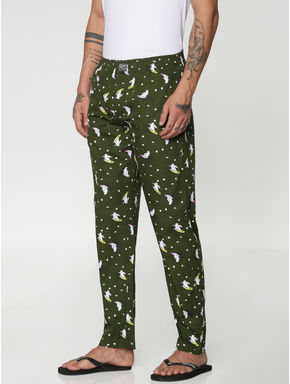 Green All Over Panda Print Pyjama