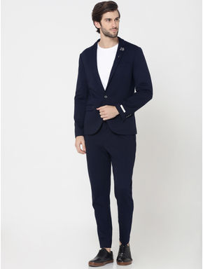 Dark Blue Slim Fit Blazer