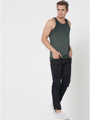 Olive Green One Pocket Tank Top