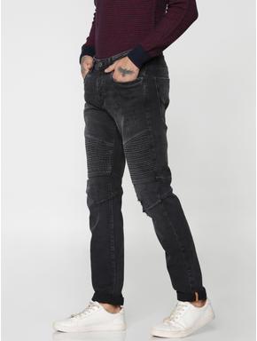 Black Mild Distressed Tim Slim Fit Jeans