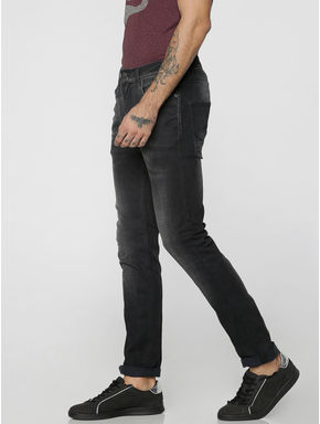Black Faded Ben Skinny Fit Jeans