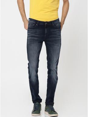 Dark Blue Liam Skinny Fit Jeans