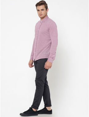 Dark Pink Slim Fit Shirt