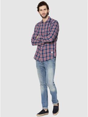 Blue Check Reversible Full Sleeves Shirt