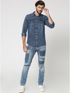Blue Denim Full Sleeves Shirt