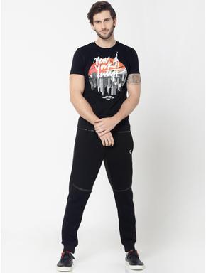 Black New York City Graphic Print Crew Neck T-Shirt
