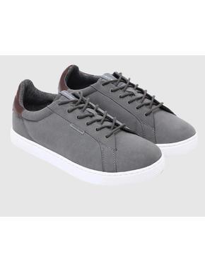 Grey PU Sneakers