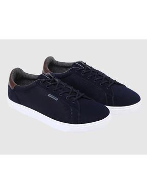 Dark Blue PU Sneakers