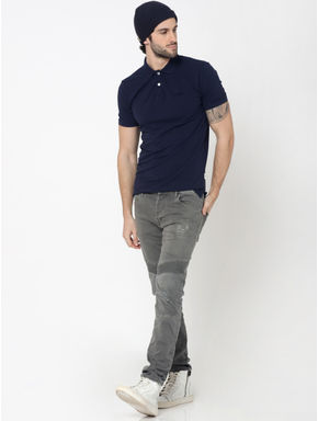 Dark Blue Polo T-Shirt