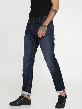 Dark Blue Mike Comfort Fit Jeans