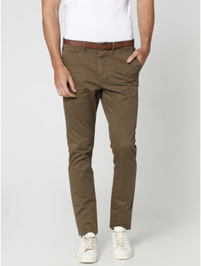 Brown Slim Fit Chinos