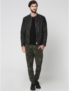Olive Green Camo Print Sweatpants