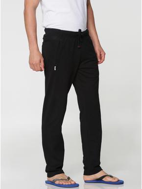 Black Side Zip Detail Drawstring Trackpants