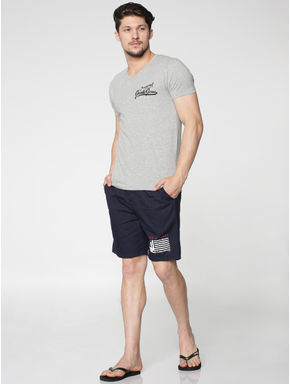 Pack of Two Text Print V-Neck T-shirts