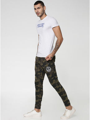 Mickey Black Mickey Camo Print Sweatpants